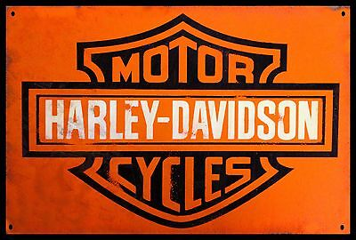 Harley Davidson Motor Cycles Metal  Display Sign