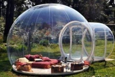 4M Large Outdoor Single Tunnel Inflatable Bubble Transparent Home Camping Tent