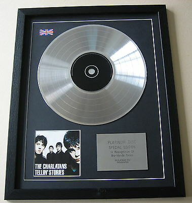 THE CHARLATANS Tellin' Stories CD / PLATINUM LP DISC Presentation