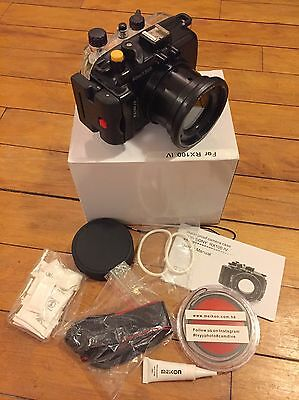 MEIKON 40m 130ft Underwater Housing for Sony RX100 IV Mark 4, with red filter