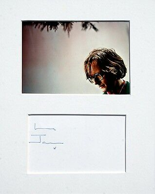 JARVIS COCKER autograph - PULP - Signed index card display - Genuine Signature