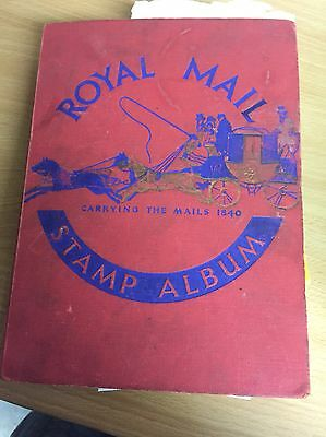 Royal Mail Vintage Stamp Album Plus Various Loose Stamps Over 600
