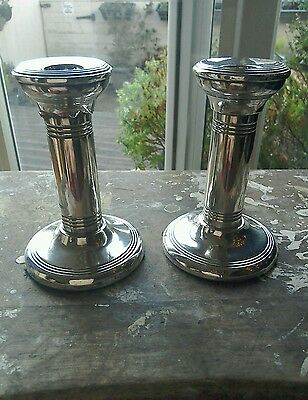 Silver Pair Of Candkesticks
