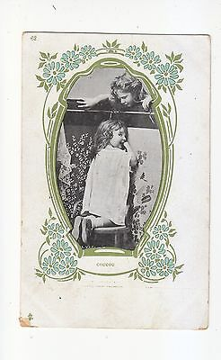 Charming Postcard Of Two Children Playing Hide And Seek (Coucou)