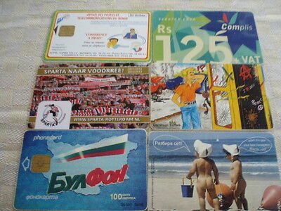 Lot of 6 various cards as scan
