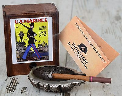 ASHTRAY Great piece of Marine Corps Memorabilia WW2 D Day Iconic Poster War WWII