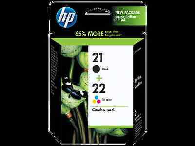 New Genuine HP 21 Black & HP 22 Colour Ink Cartridge For Deskjet F2280 Printer