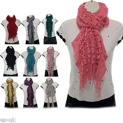 Whole Sale Job Lots - 10 x Brand New Wool Knitted Scarves Mixed Design & Colour