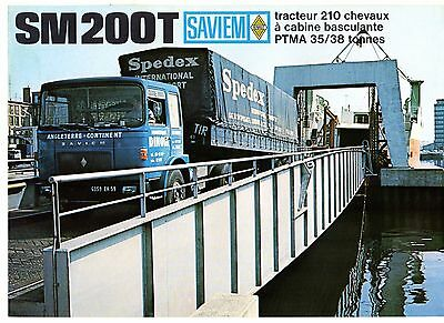 Saviem SM 200 T & NT Tractor Unit 1968-69 French Market Foldout Sales Brochure