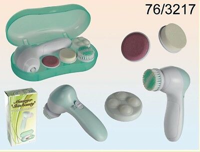 4 in 1 Portable Electric Facial & Body Exfoliator Massager & Cleanser plus Brush