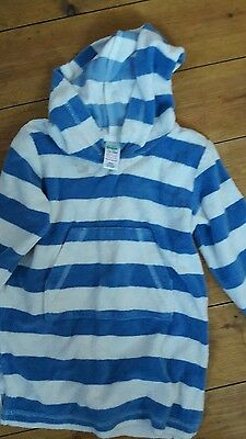 boden 12-18 months stripy towelling hooded top