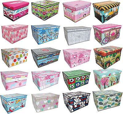 Large Childrens Laundry Bedding Storage Box Kids Toy Tidy Bedroom Chest