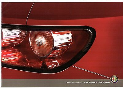 Alfa Romeo Brera & Spider Accessories 2008-10 UK Market Sales Brochure