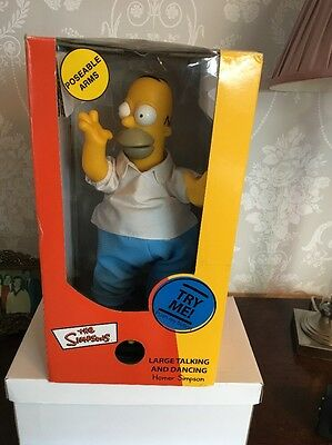 Homer Simpson Large Talking And Dancing  Brand New For Display Only