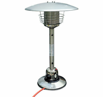 New Table Top Gas Patio Heater Stainless Steel Outdoor Heating Heat Fire
