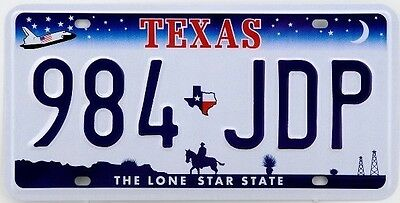 Usa Metal Nummernschild Kfz - Texas The Lone Star State - Us License Plate N3
