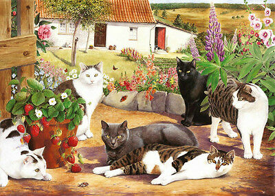 The House Of Puzzles - 500 BIG PIECE JIGSAW PUZZLE - Cool Cats Big Pieces