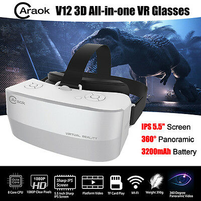 Caraok All In One 5.5 inch Virtual Reality VR Headset 3D Glasses Private Cinema
