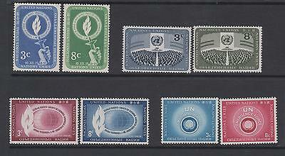 United Nations  1955/57  - 4 unmounted  mint (MNH)  sets