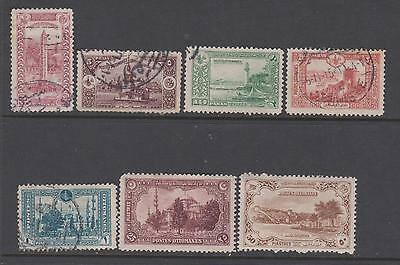Turkey 1914 from SG 499 - 2 mounted mint 5 used