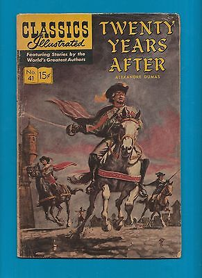 Classics Illustrated Comic Book 1966 Twenty Years After # 41.  #721