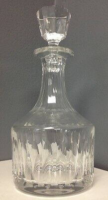 ST LOUIS France Clear Lead Crystal Whiskey Wine Spirits Decanter With Stopper SR