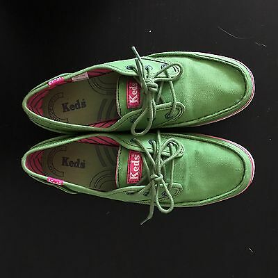 Keds Green With Pink Lining Shoes Size AU 5