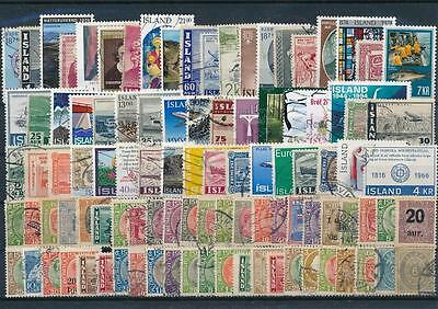 SB: Iceland - Collection 100 stamps mixed condition - L10263