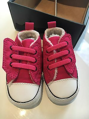 Baby Converse Size 2 NEW Pink Crib