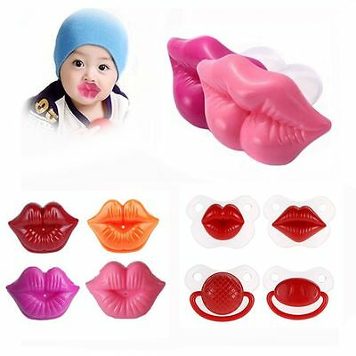 Funny Pacifier Teether Orthodontic Soother Dummy Lip Baby Silicone Nipple