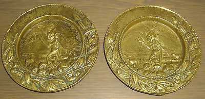 Very Old Brass Plates ~ With Imp Design