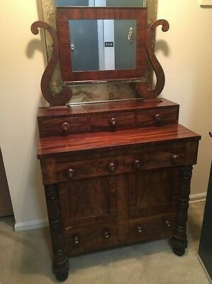 Antique 19th Century Dresser with removable vanity mirror