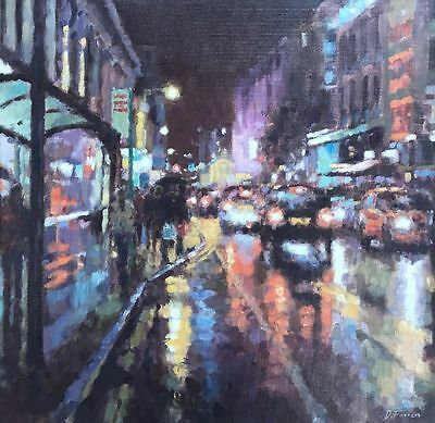 Original David Farren Oil Painting, Northern Art, Manchester Interest