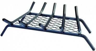 Steel Bar Fireplace Grate with Ember Retainer Log Bar Hearth Fire Pleasant Iron