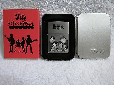 NEW The Beatles Monochrome Zippo Limited Edition Lighter - Unfired