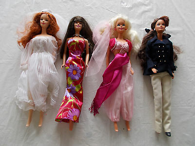 4 Barbie Dolls with Clothing (LOT #6)