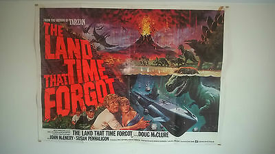 The Land That Time Forgot 1975- Original Very Rare Uk Quad Poster 30 X 40 Inches