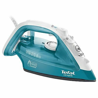 Tefal UltraGlide Steam Clothes Iron 2400W Durilium Soleplate in Turquoise FV4041