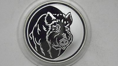 Russia 3 Roubles 2007 Lunar Year of the Pig Silver Proof coin