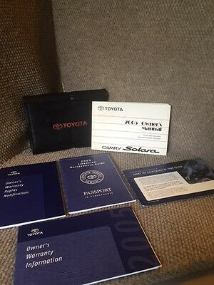 2005 Toyota Camry Solara Owners Manual set with warranty guide and case