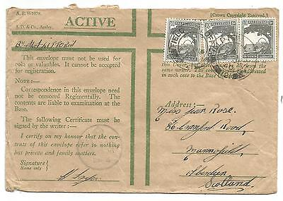1940 Active service cover Field Post Office 121 Palestine to UK