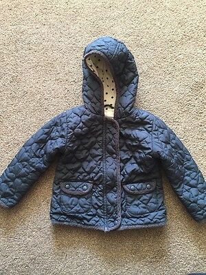 Girls next Navy Jacket With Hood Age 2- 3 Years