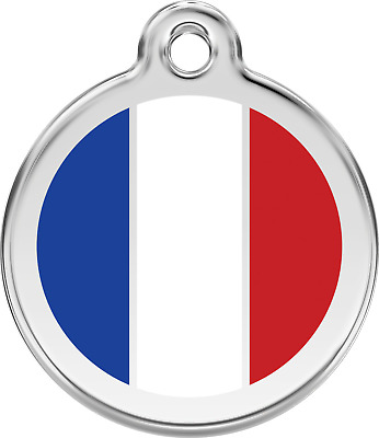 Medaille Chien Chat Red Dingo Drapeau 7 Pays  3 Tailles