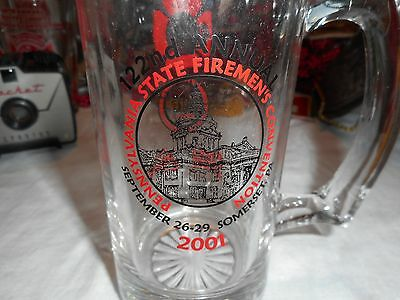 122nd Fireman's Convention Beer Mug Somerset, Pa. Advertising Coors