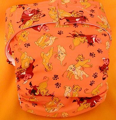 All In One Adult Baby Reusable Cloth Diaper S,M,L,XL Lion King