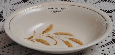 Edwin Knowles Gold Harvest Oval Vegetable Serving Bowl 9""