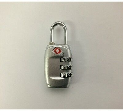 1 x 3 Digit Resettable Combination TSA Travel Luggage Package Bag Lock Padlock