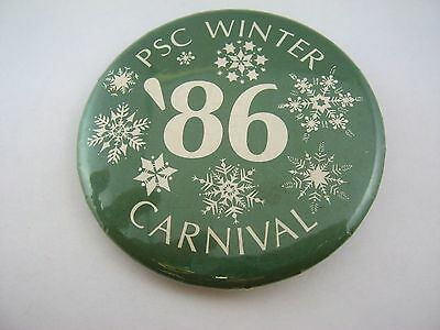 Vintage 1986 PSC Plymouth Winter Carnival New Hampshire Pin Button