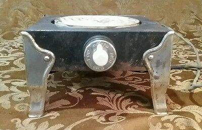 Antique General Electric Hot Plate Ceramic & Chrome Works GE