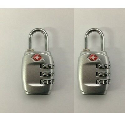 2 x 3 Digit Resettable Combination TSA Travel Luggage Package Bag Lock Padlock